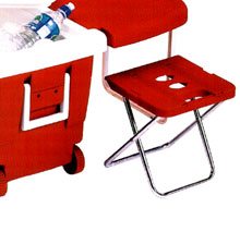 Party Cart Rolling Cooler On Wheels That Converts To