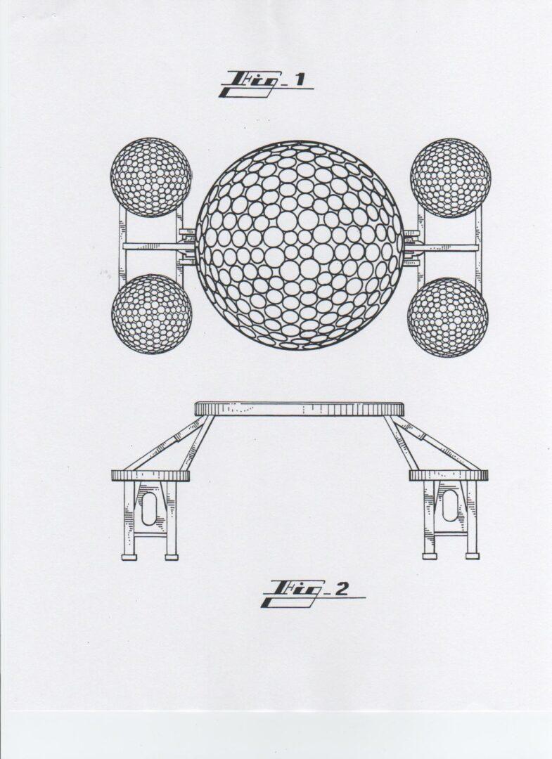 GOLF BALL FOLDABLE TABLE