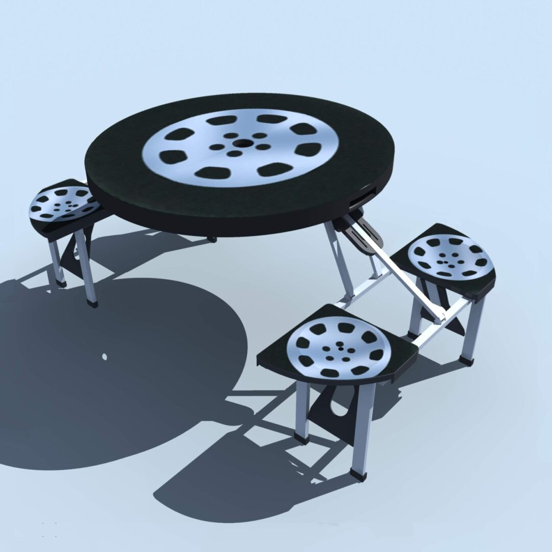 RACING TIRE FOLDABLE TABLE